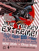 Jive Turkey Extreme Thanksgiving Party Handbill