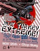 Jive Turkey Extreme Thanksgiving Party Handbill