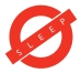 no sleep logo web
